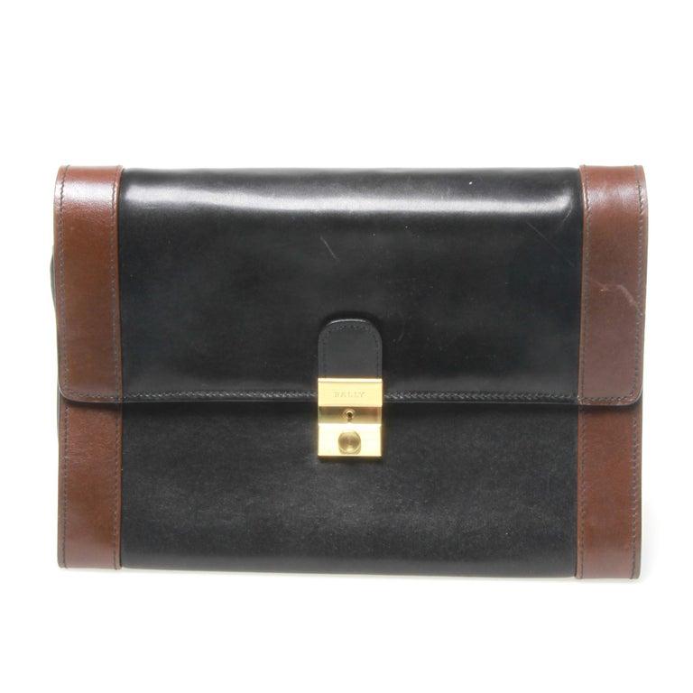 Bally leather Clutch