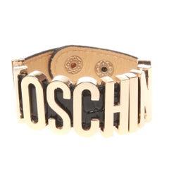Moschino Black Leather Cuff