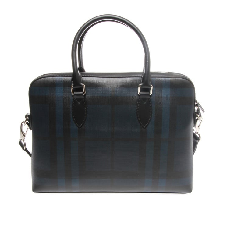 Burberry London Check Collection Barrow Simple Briefcase For Sale