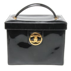 Chanel patent leather makeup case