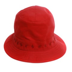 Hermes Red Bucket Hat Catalan Multi