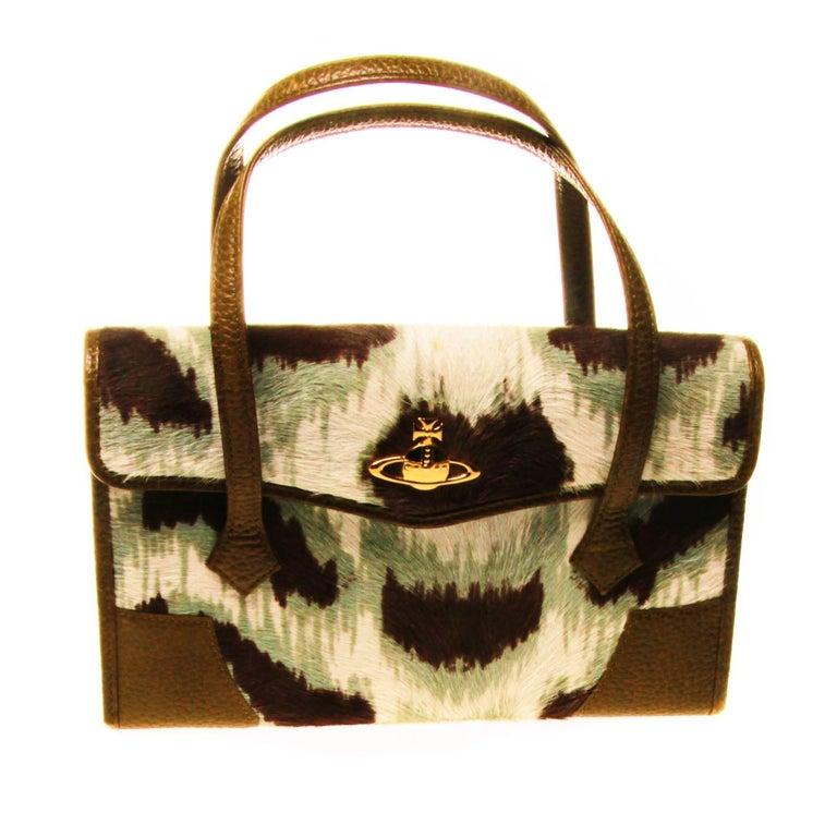 Black Vivienne Westwood Ponyhair Wallet Handbag For Sale