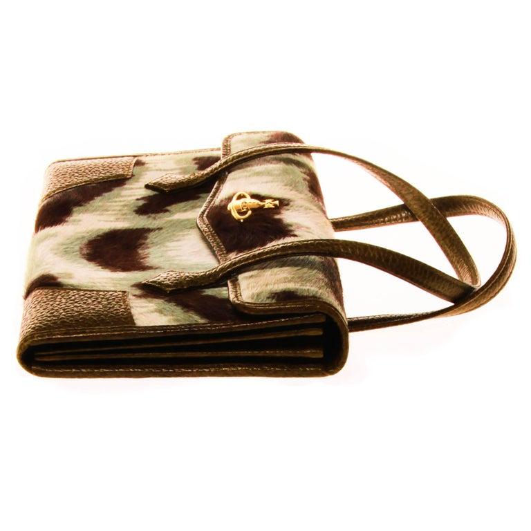 Vivienne Westwood Ponyhair Wallet Handbag In Good Condition For Sale In Melbourne, Victoria