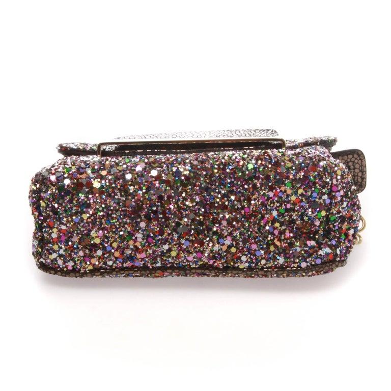 Black JIMMY CHOO Caro Glitter Clutch For Sale