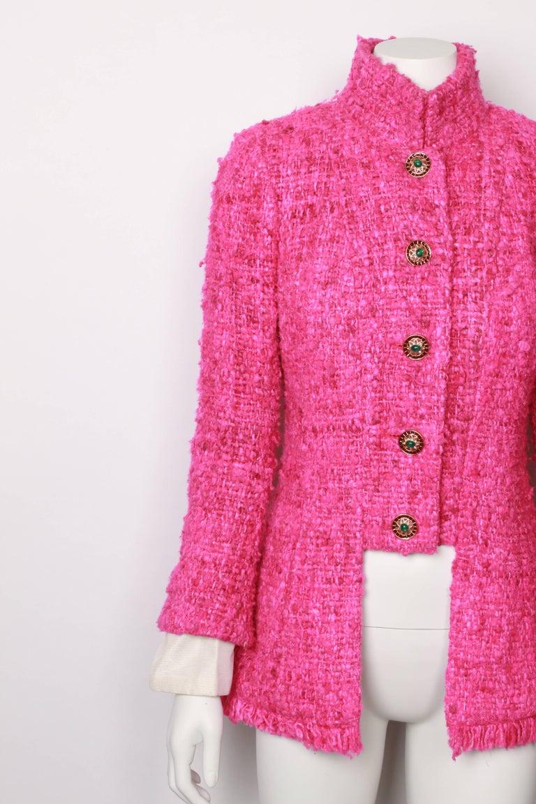 Pink Chanel Maharaja Tweed Jacket, 2012  For Sale