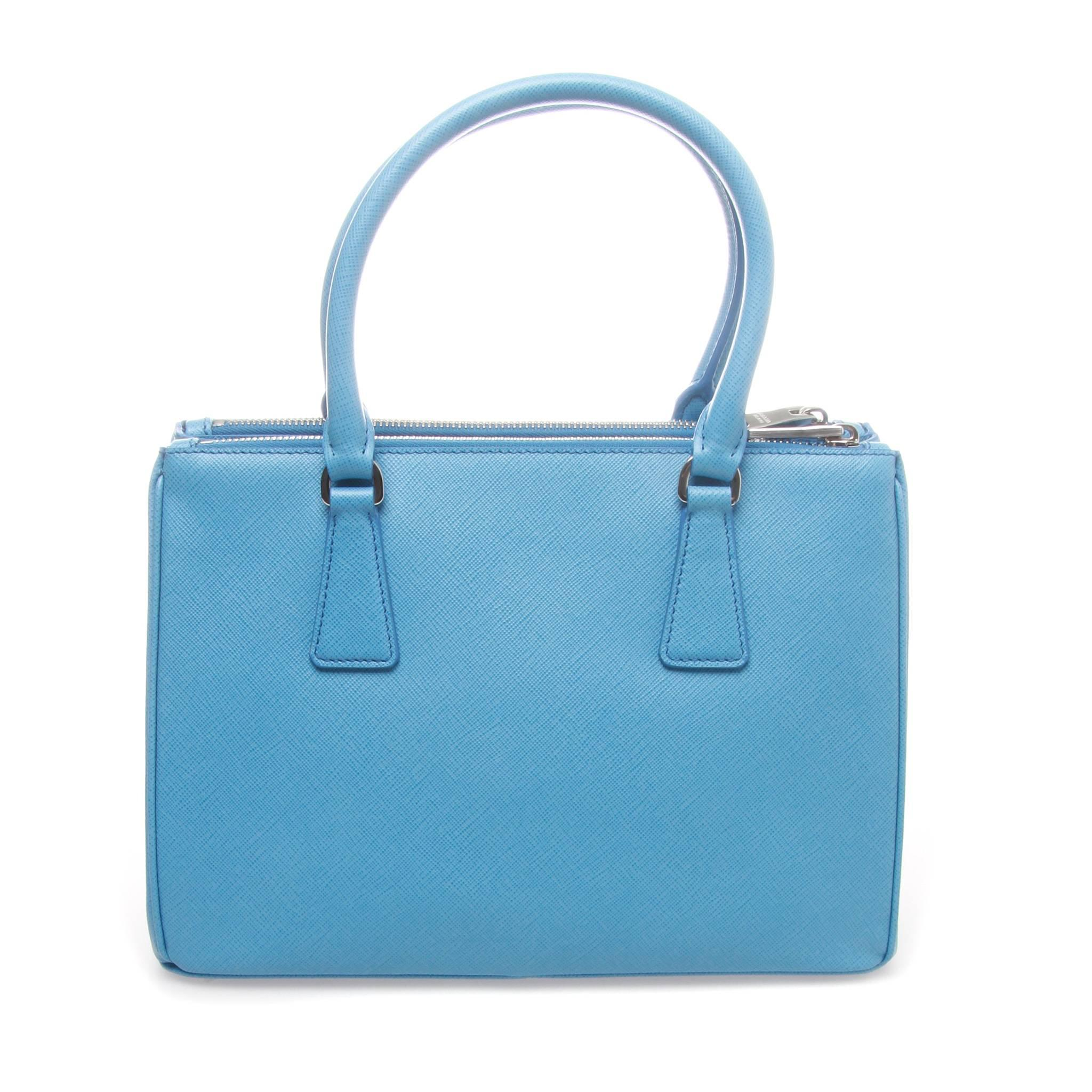 f952fca0dfa21a ... inexpensive prada sea blue 28cm saffiano lux galleria shopping bag in  new condition for sale in