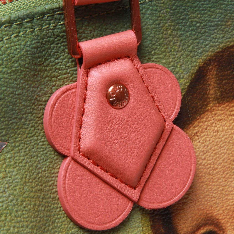 Brown Louis Vuitton LV X Koons Masters Da Vinci Speedy 30 Bag For Sale