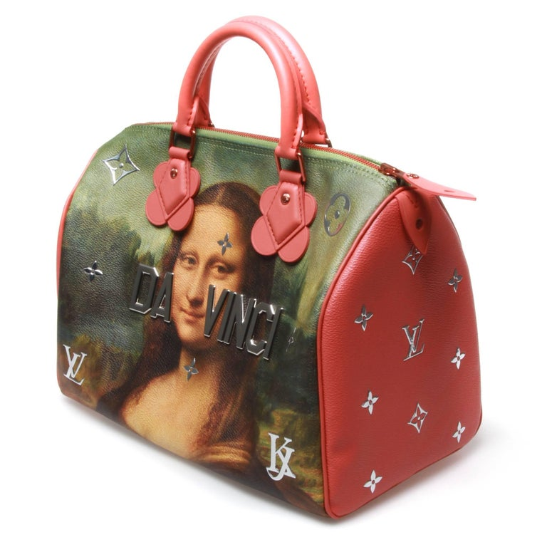 Louis Vuitton LV X Koons Masters Da Vinci Speedy 30 Bag 4