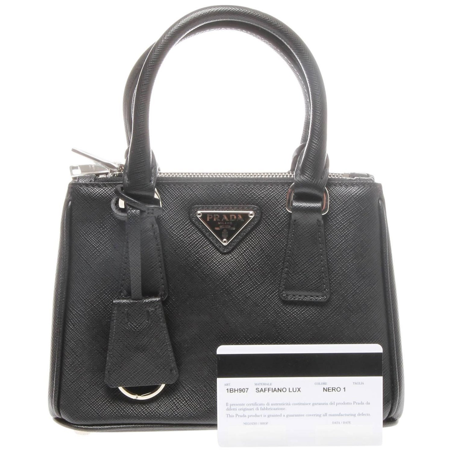 7ef09c7bf8e7 Prada Saffiano Lux Mini Promenade Bag For Sale at 1stdibs