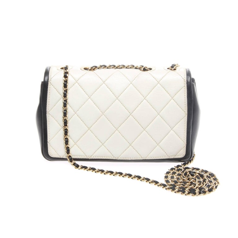 Beige Chanel Classic Quilted Caviar handbag