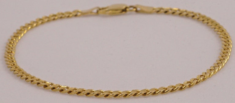 14k Gold Bracelet Featuring A Fancy Cut Link Design The Is Stamped Ah