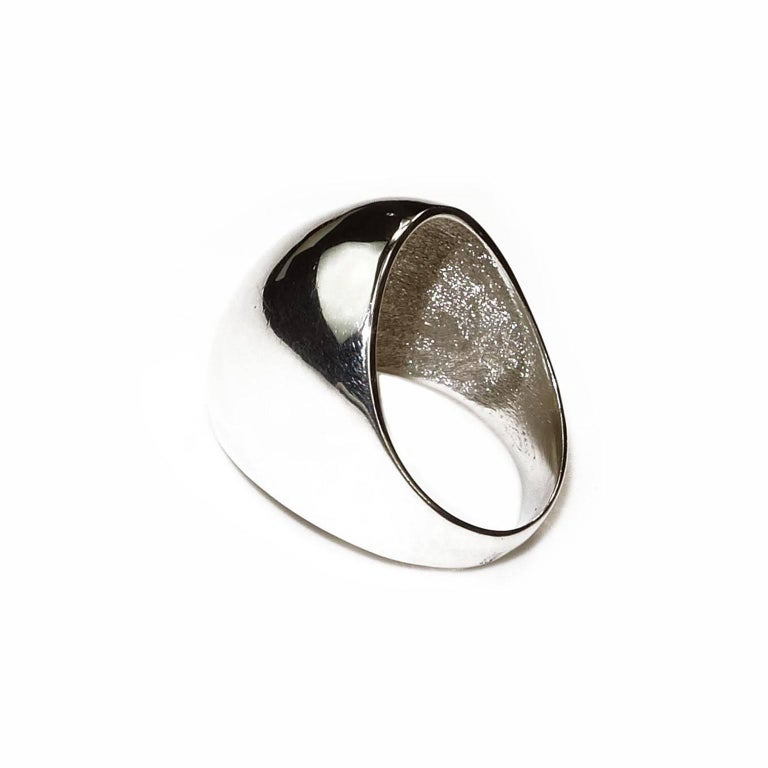 modernist sterling silver dome ring for sale at 1stdibs
