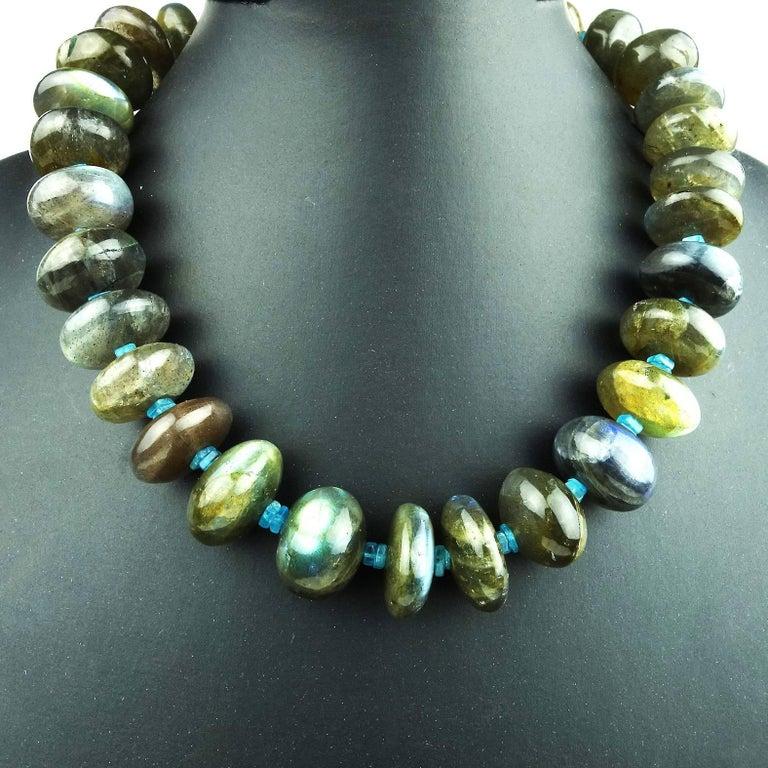 Labradorite Rondel Choker Necklace For Sale 3