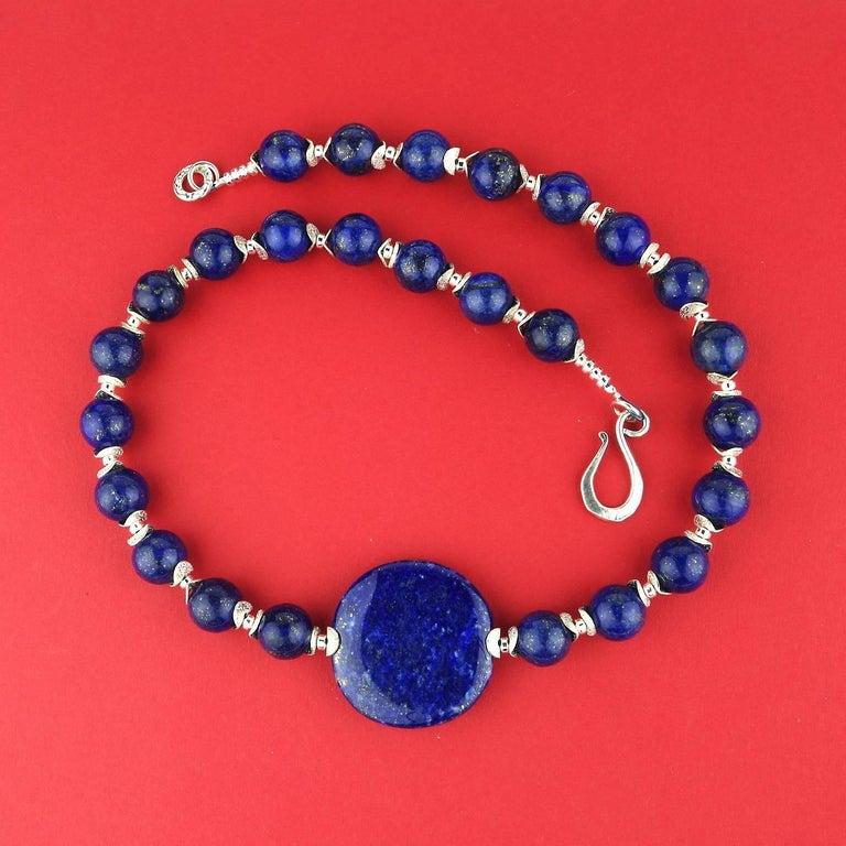 Lapis Lazuli Necklace For Sale 1