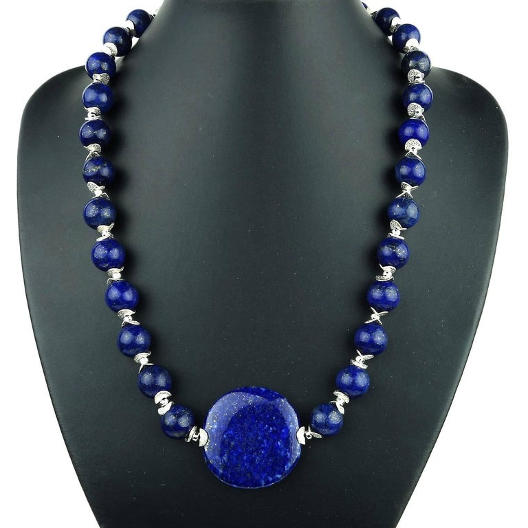 Lapis Lazuli Necklace In New Condition For Sale In Tuxedo Park, NY