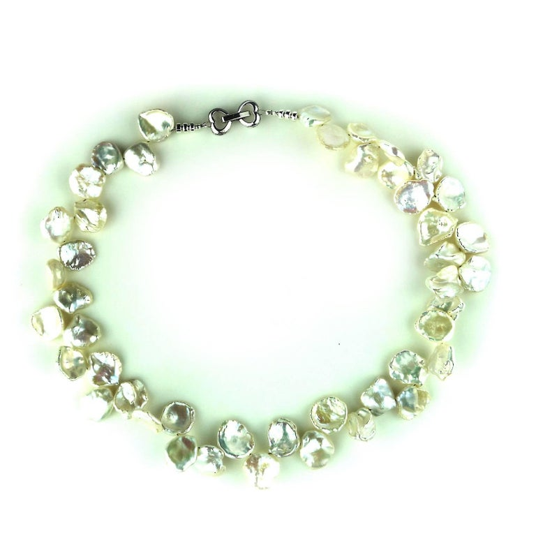 9ce4375d6ae7f Choker Collar Necklace of White Keshi Pearls