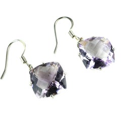 Amethyst 'Rose of France' Earrings