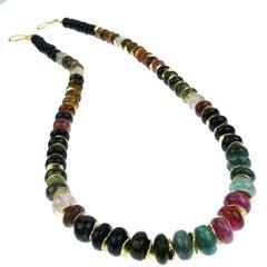 Multi Color Tourmaline Necklace
