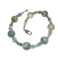 Aquamarine Choke Necklace