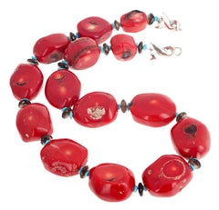 Unique Red Bamboo Coral Necklace