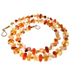 Fall Tone Multi Color Agate and Citrine Necklace