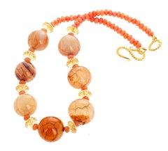 Orange Halsketten