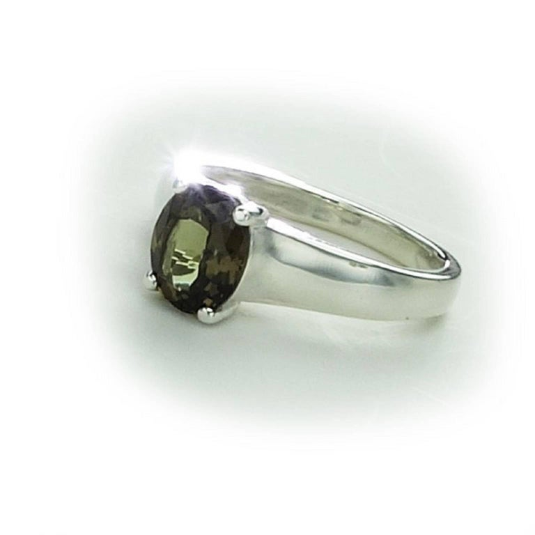 Unusual Color Change Garnet in Sterling Silver Ring January Birthstone 3