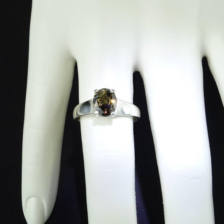 Unusual Color Change Garnet in Sterling Silver Ring January Birthstone 5