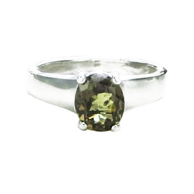 Unusual Color Change Garnet in Sterling Silver Ring January Birthstone 6