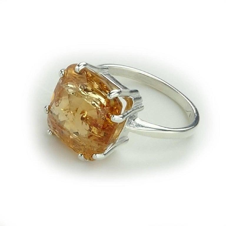 Orange Imperial Topaz in Sterling Silver Ring at 1stdibs