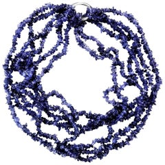 Multi-Strand Tanzanite Necklace