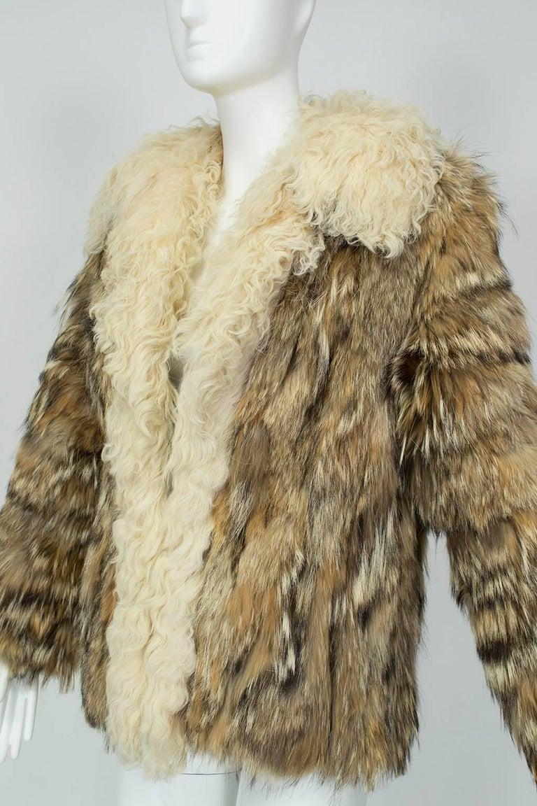 Black Coyote Fur Coat Neiman Marcus >> Coyote Fur And Mongolian Lamb Chubby Jacket Neiman Marcus 1970s