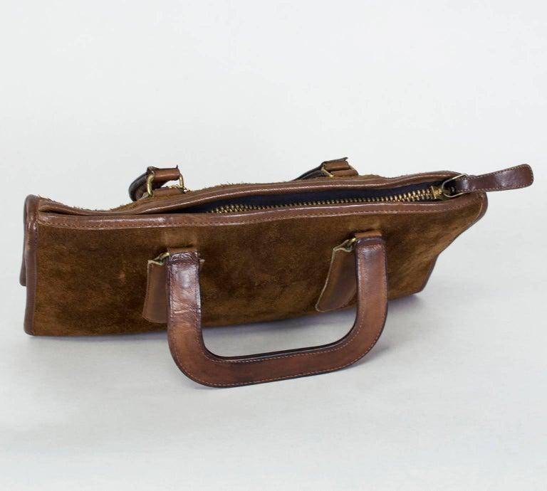 Women's Bonnie Cashin Coach Suede Soft-Sided Mini Briefcase, 1970s For Sale