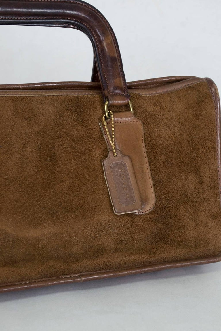 Bonnie Cashin Coach Suede Soft Sided Attach 233 Purse 1970s