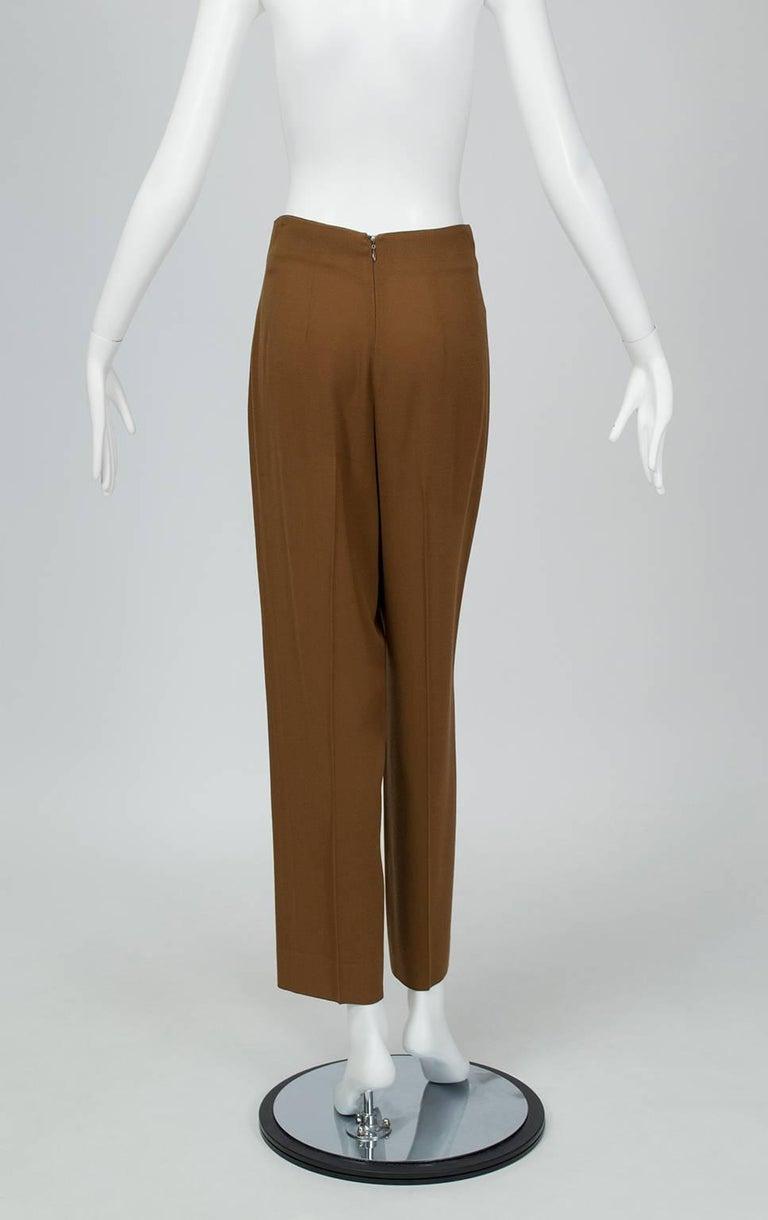 Donna Karan Copper Teddy Bear Alpaca Cape and High Waist Trouser Set- S-M, 1990s For Sale 3