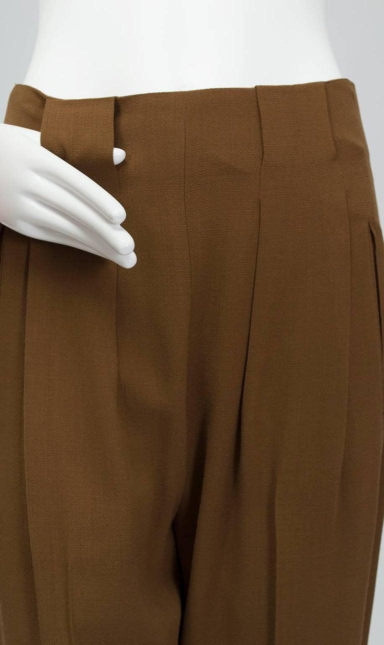 Donna Karan Copper Teddy Bear Alpaca Cape and High Waist Trouser Set- S-M, 1990s For Sale 4