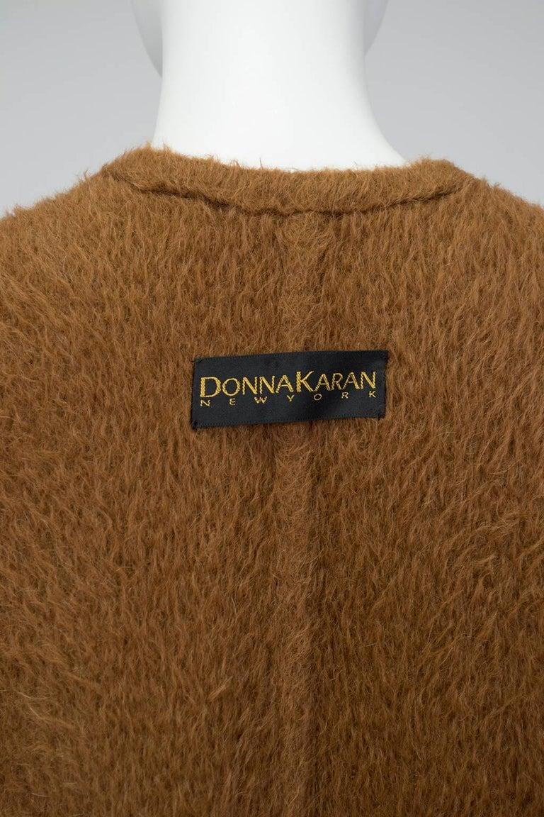 Donna Karan Copper Teddy Bear Alpaca Cape and High Waist Trouser Set- S-M, 1990s For Sale 5
