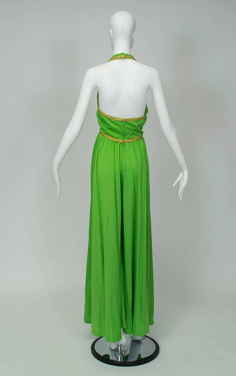 J Magnin Palazzo Jumpsuit and Jeweled Tunic - Mad Men Season 5, 1960s In Good Condition For Sale In Phoenix, AZ