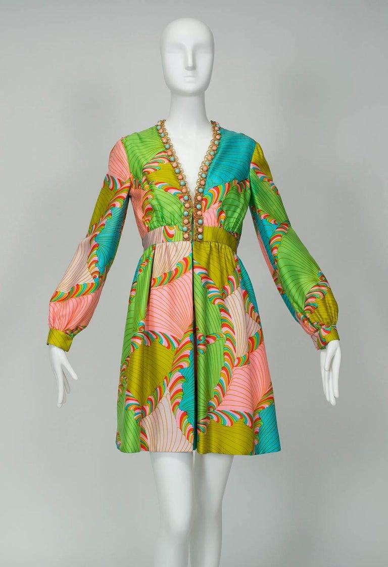 J Magnin Palazzo Jumpsuit and Jeweled Tunic - Mad Men Season 5, 1960s For Sale 1