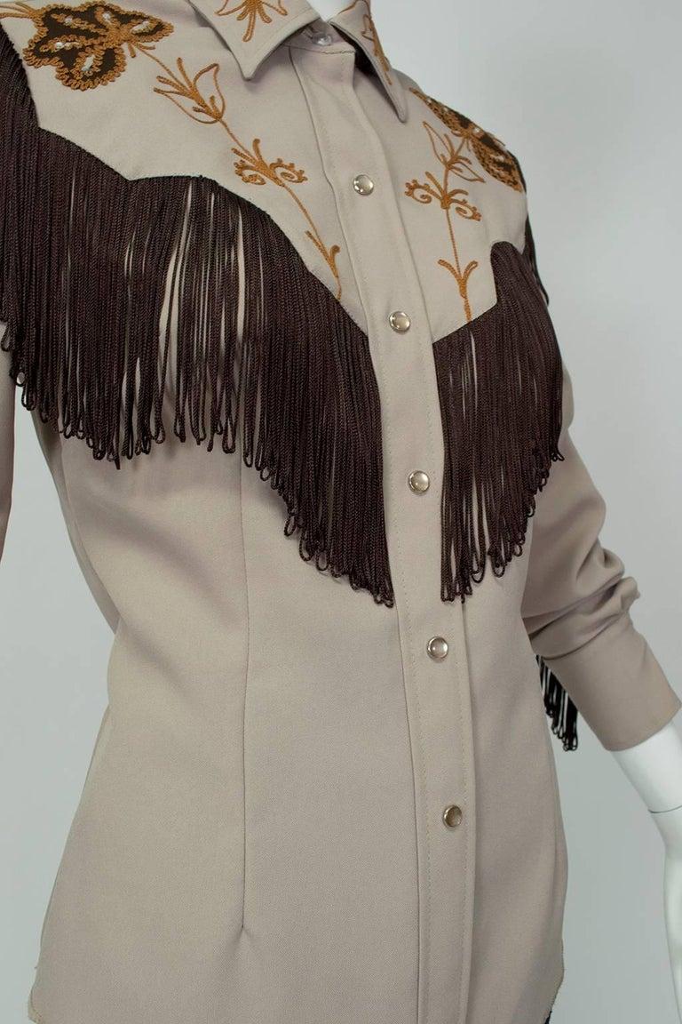 Women s H Bar C Ranchwear Fringed Western Rhinestone Cowboy Shirt 2d47eebc5