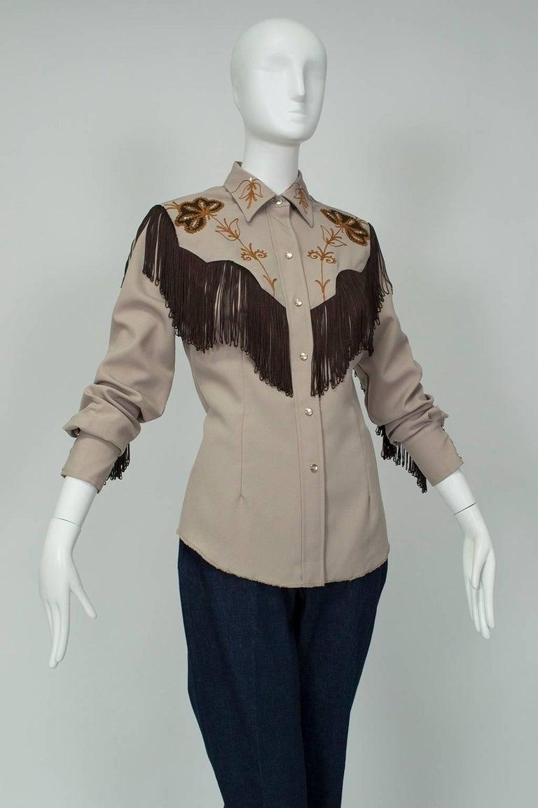 H Bar C Ranchwear Fringed Western Rhinestone Cowboy Shirt f17738050
