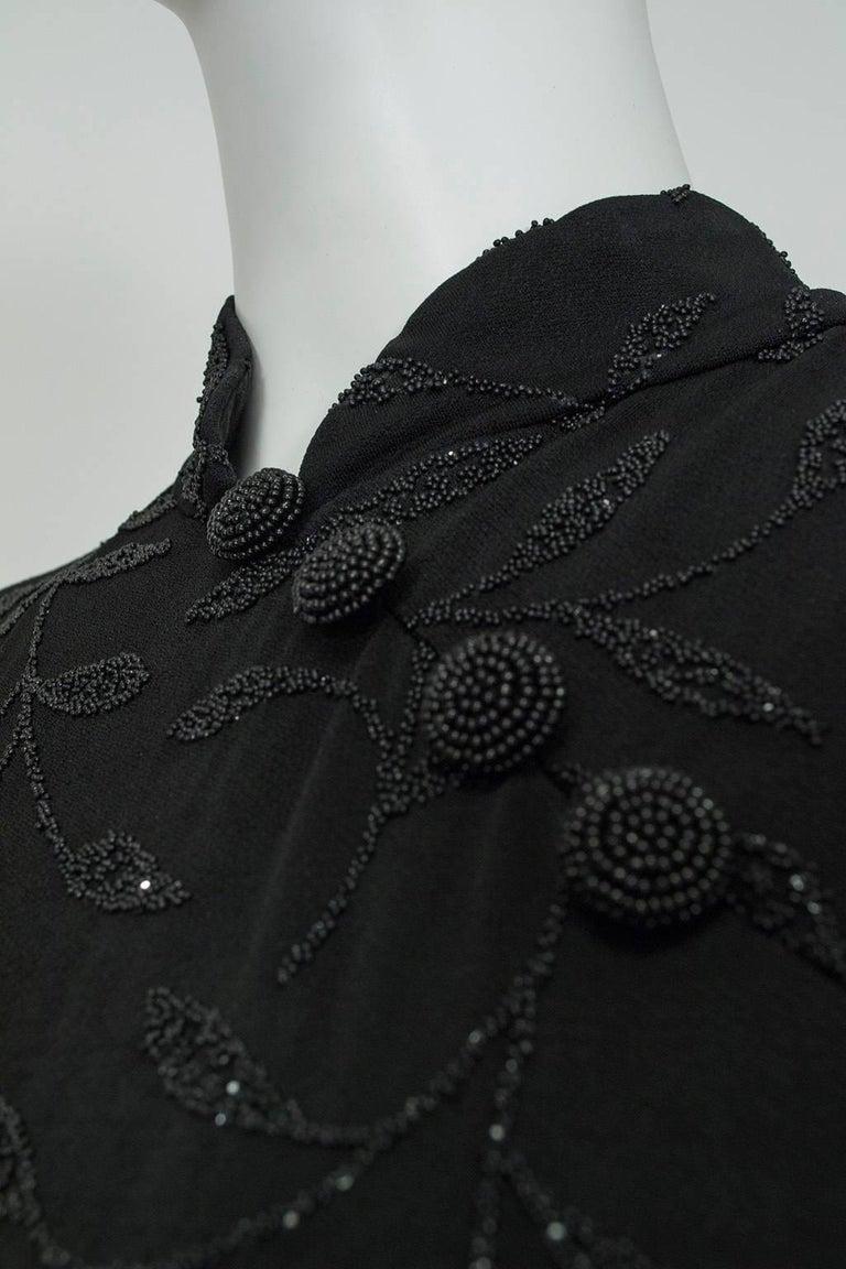 Huey Waltzer Beaded Qipao Column Gown, 1997 For Sale 2