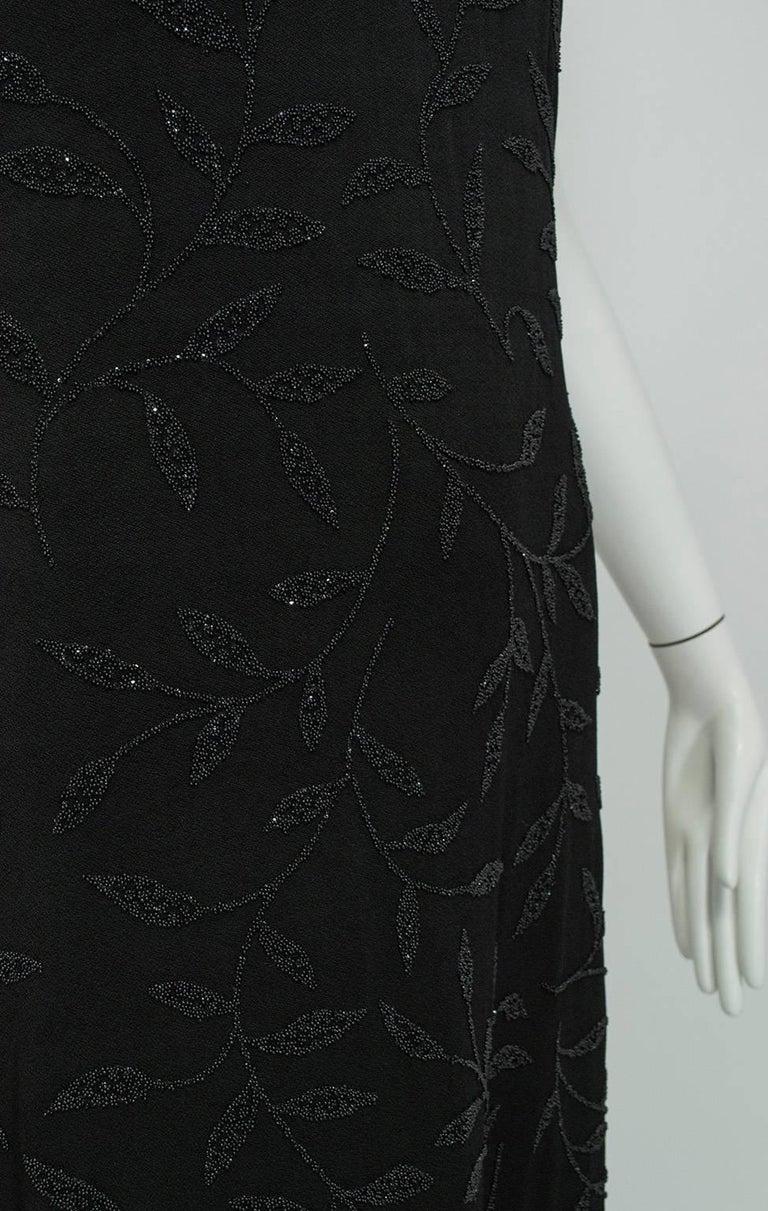Huey Waltzer Beaded Qipao Column Gown, 1997 For Sale 1
