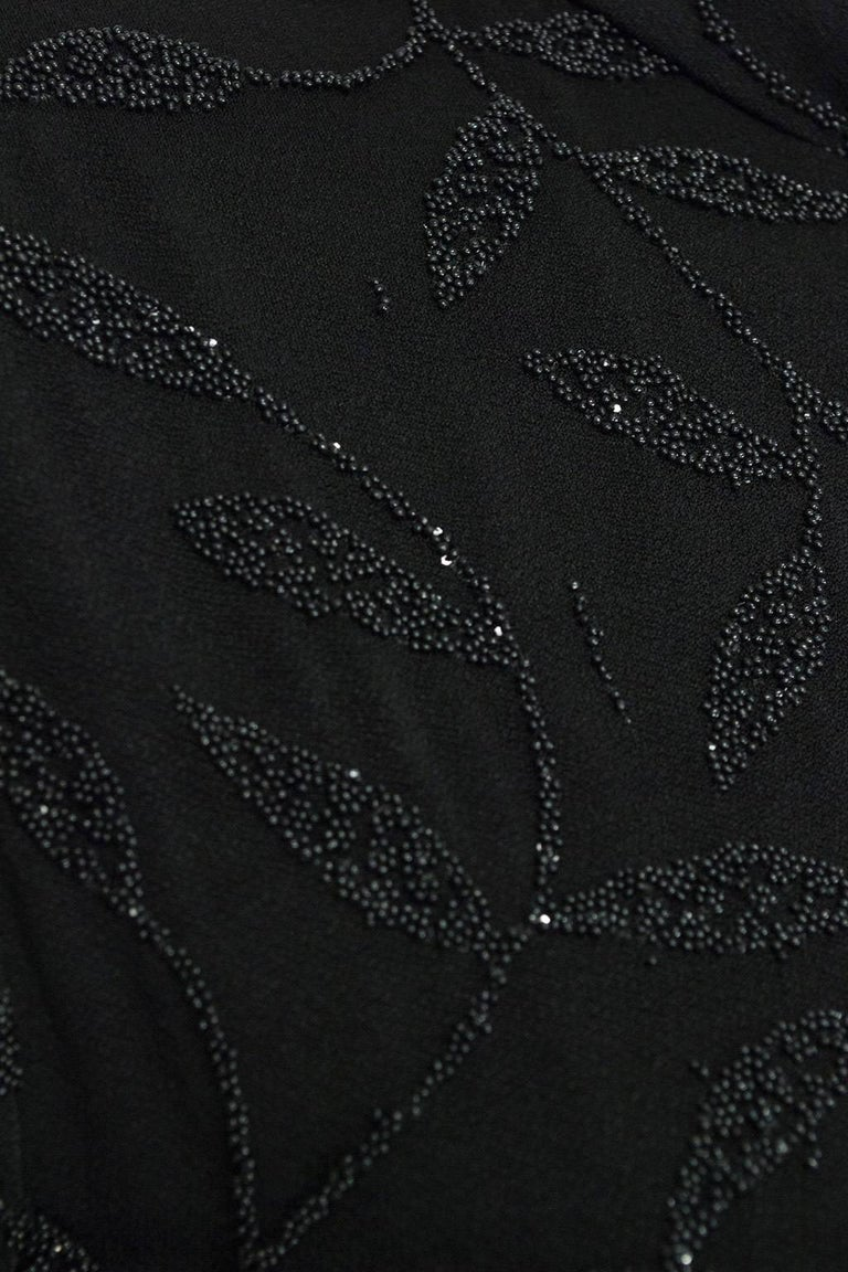 Huey Waltzer Beaded Qipao Column Gown, 1997 For Sale 3