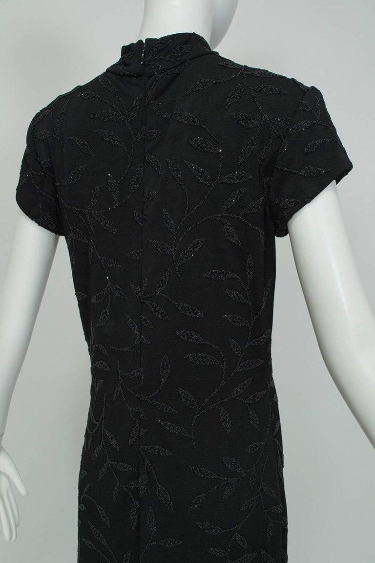 Women's Huey Waltzer Beaded Qipao Column Gown, 1997 For Sale