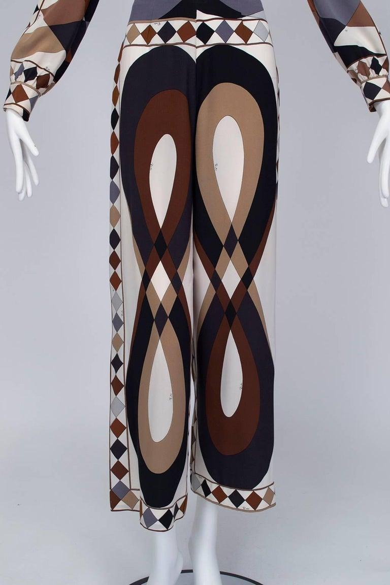 Emilio Pucci Silk Tunic and Palazzo Trouser Ensemble, 1970 For Sale 3