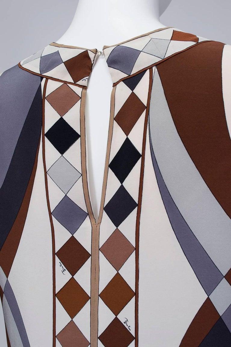Emilio Pucci Silk Tunic and Palazzo Trouser Ensemble, 1970 For Sale 2