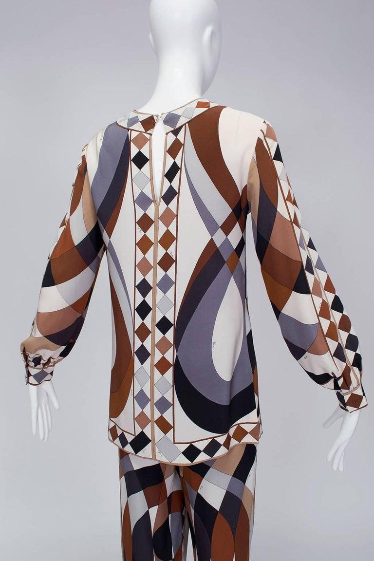 Women's Emilio Pucci Silk Tunic and Palazzo Trouser Ensemble, 1970 For Sale