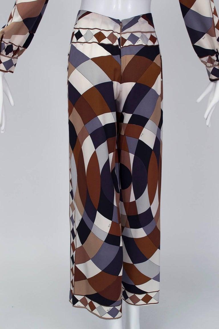 Emilio Pucci Silk Tunic and Palazzo Trouser Ensemble, 1970 For Sale 4