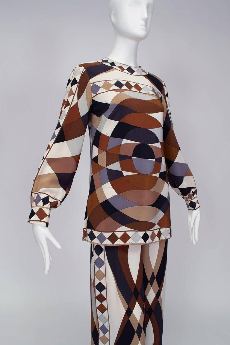 Emilio Pucci Silk Tunic and Palazzo Trouser Ensemble, 1970 In Excellent Condition For Sale In Phoenix, AZ